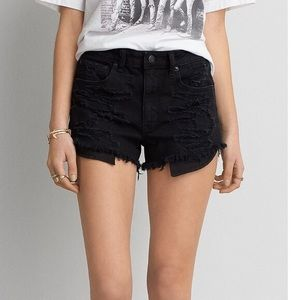 Hi Rise Midi Denim Shorts | AE